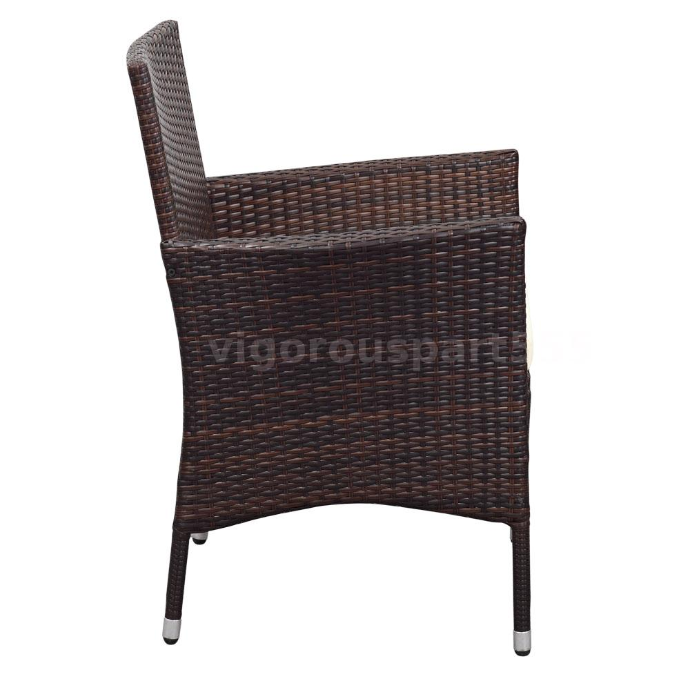 ikayaa 9pcs rattan patio balkon tisch st hle set gartenm bel esstisch set p2p8 ebay. Black Bedroom Furniture Sets. Home Design Ideas