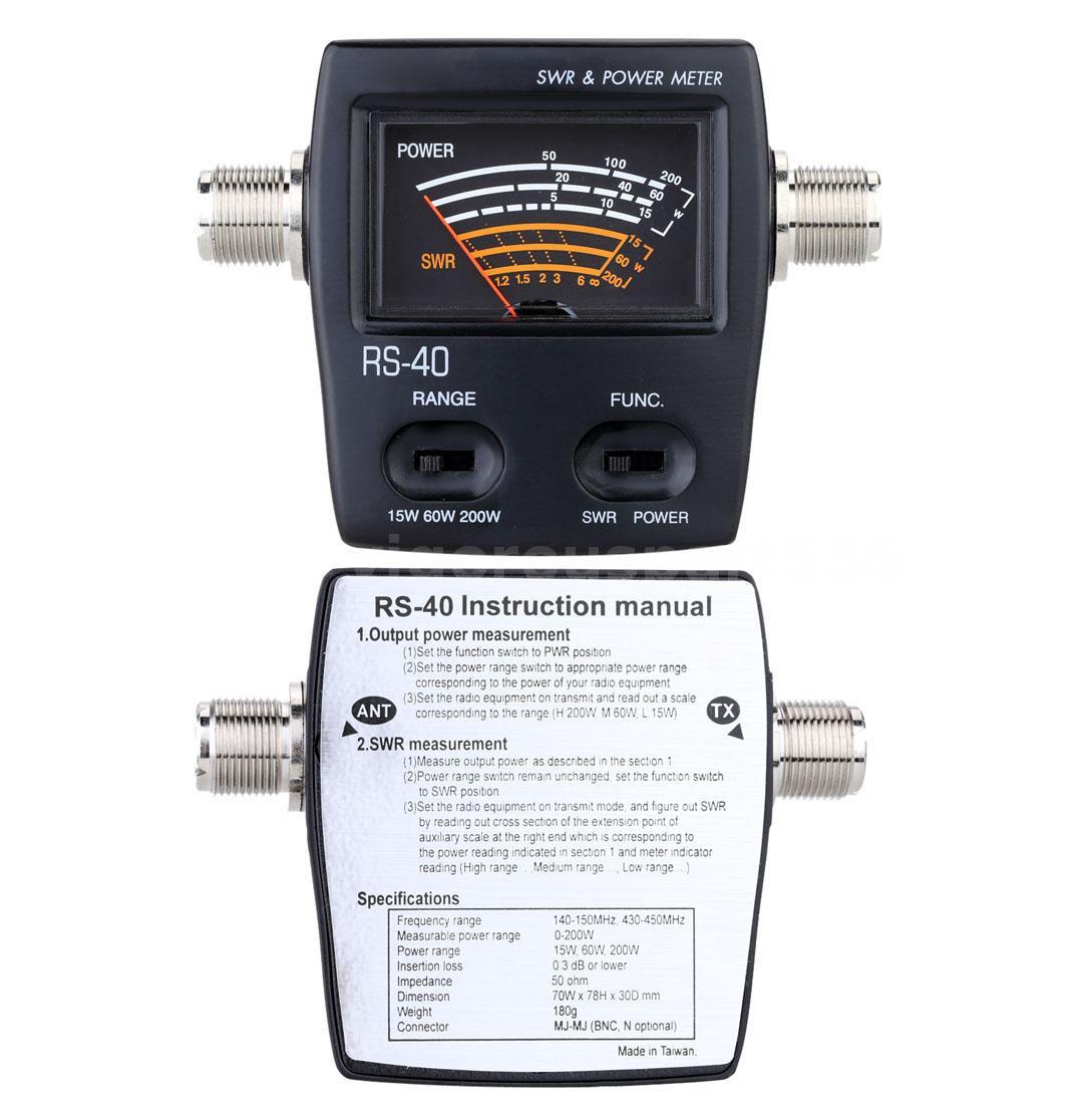 Swr Power Meter : Swr standing wave ratio watt power meter for uhf ham