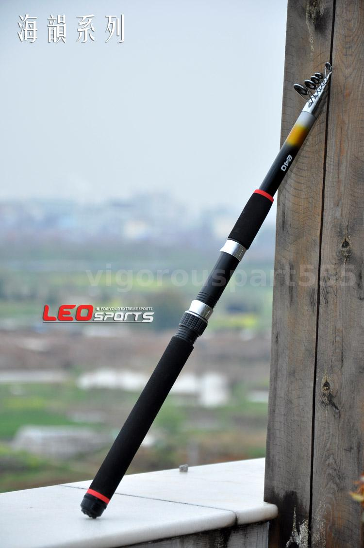 2 4m portable telescopic fishing rod travel spinning for Best telescoping fishing rod