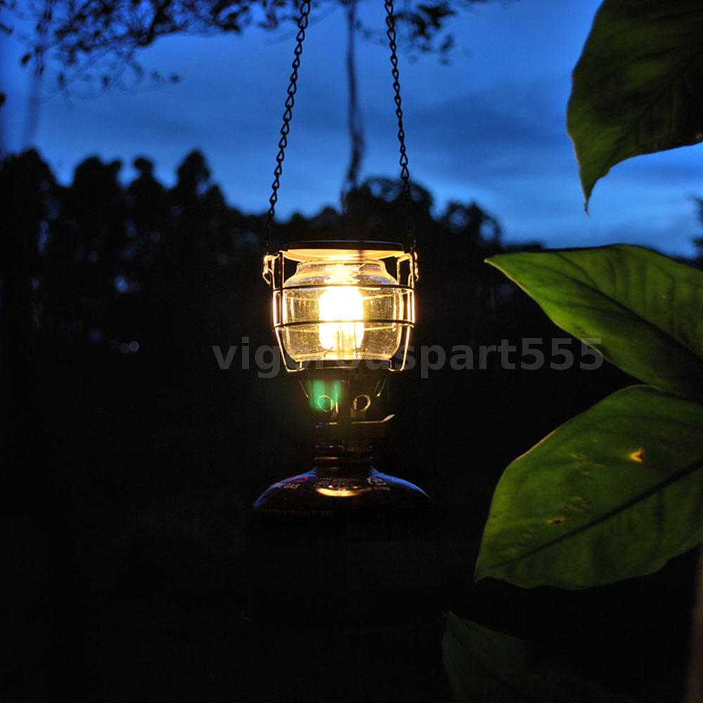 Mini Portable Camping Lantern Gas Light Tent Lamp Hanging