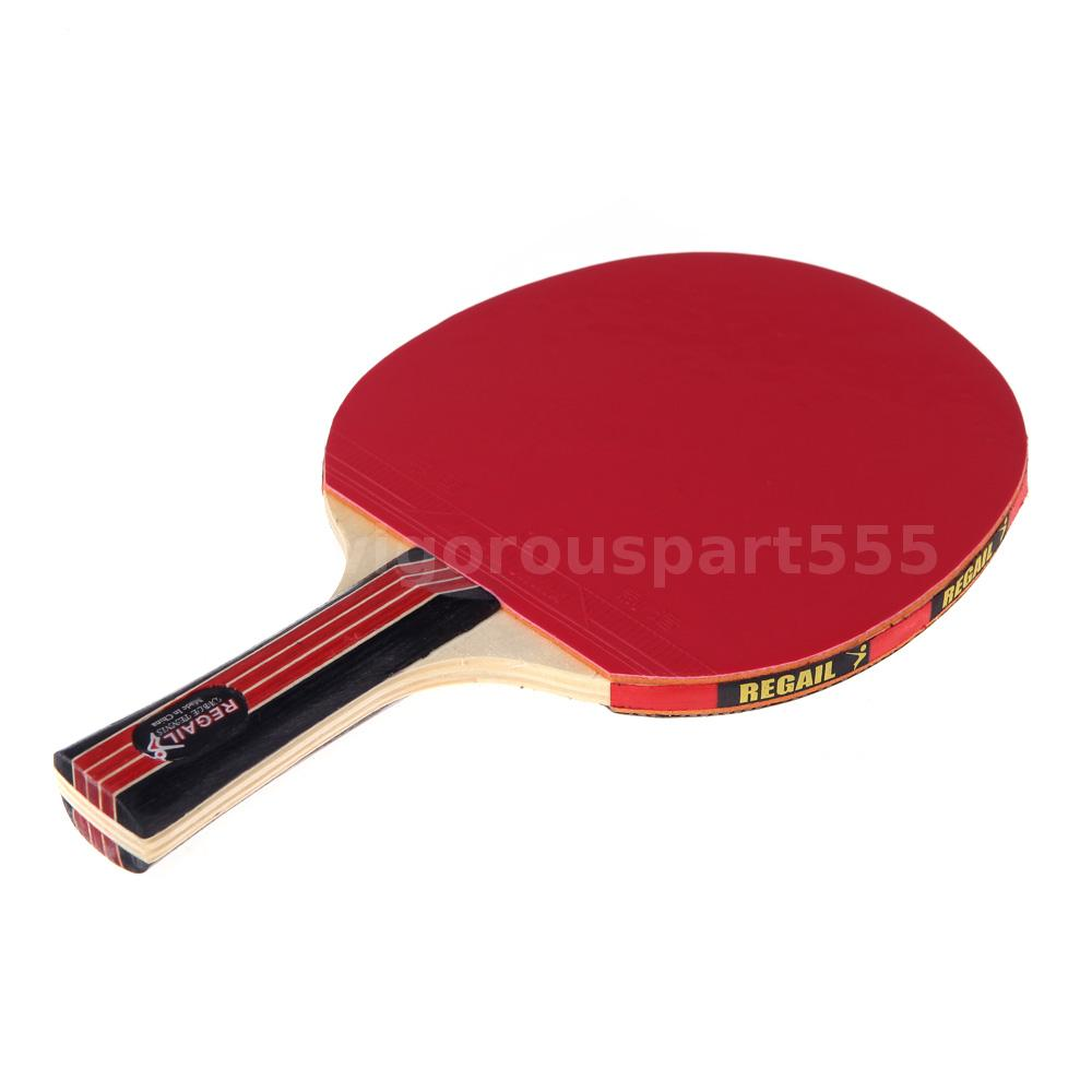 Long Handle Shake Hand Table Tennis Racket Ping Pong