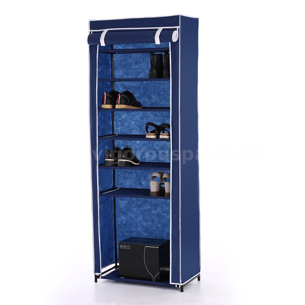 Portable Storage Cabinets : Home portable closet storage organizer cabinet shelf shoe