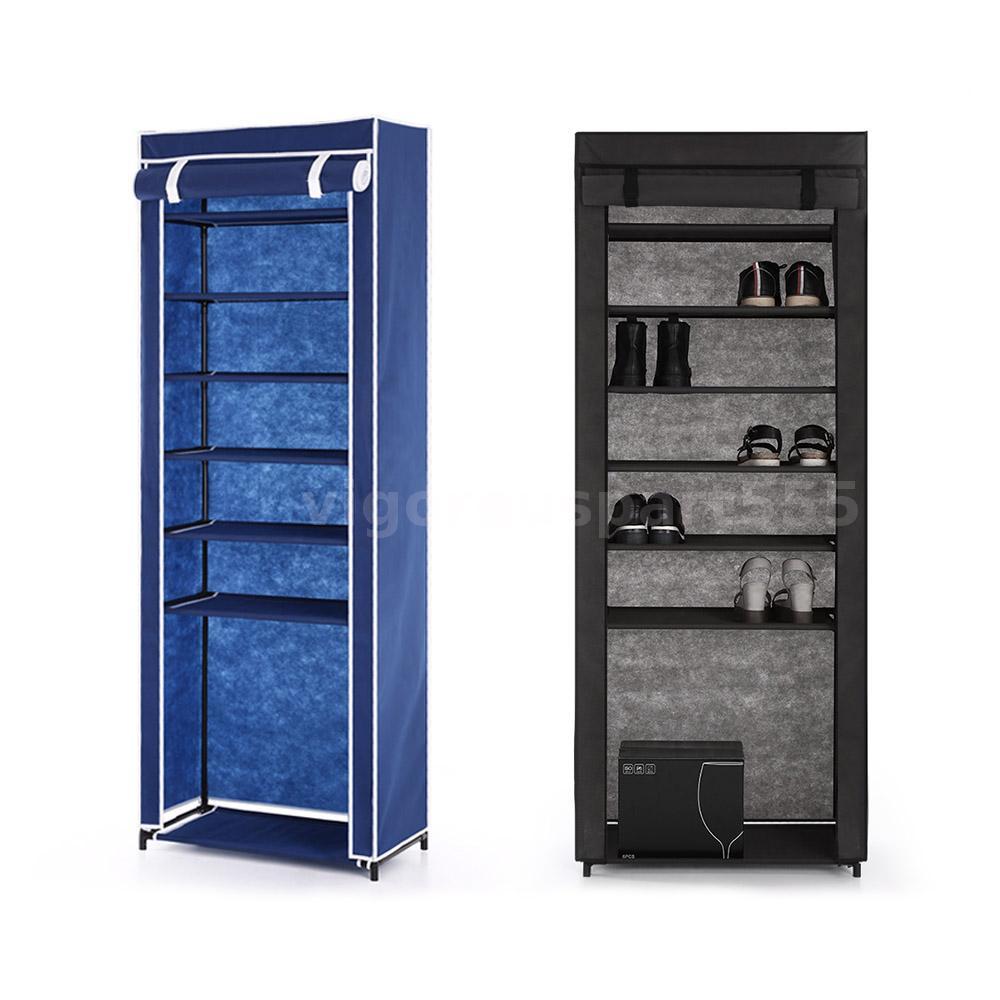 Portable Closet Rack : Home portable closet storage organizer cabinet shelf shoe
