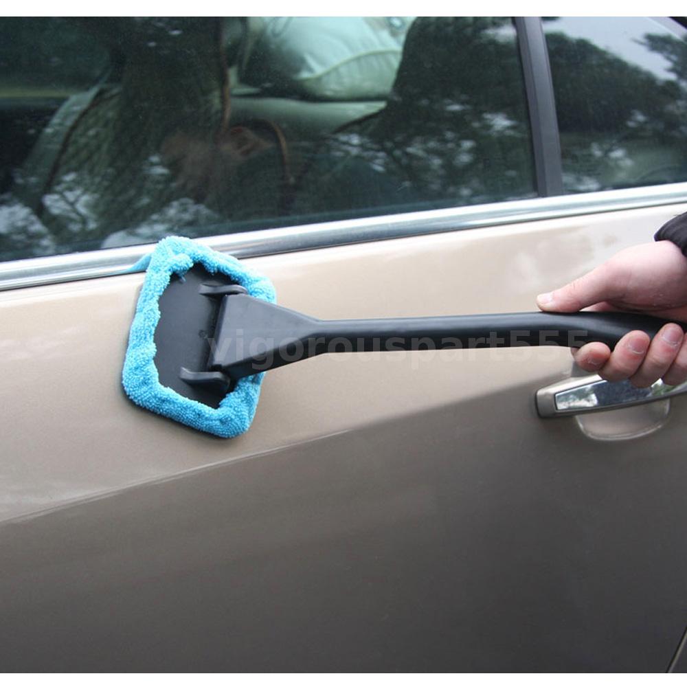 kkmoon car windshield window cleaner brush easy handy cleaning tool microfiber ebay. Black Bedroom Furniture Sets. Home Design Ideas