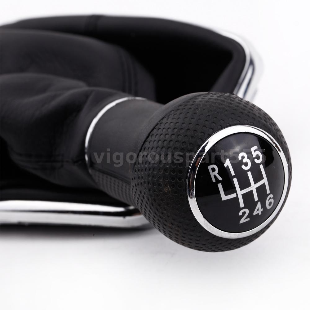 6 speed gear stick shift knob gaitor boot for vw golf bora. Black Bedroom Furniture Sets. Home Design Ideas