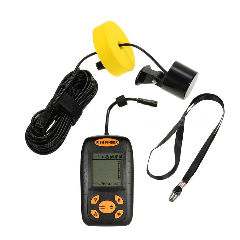 Portable 100m depth sonar sensor fish finder capturing for Fish and depth finder